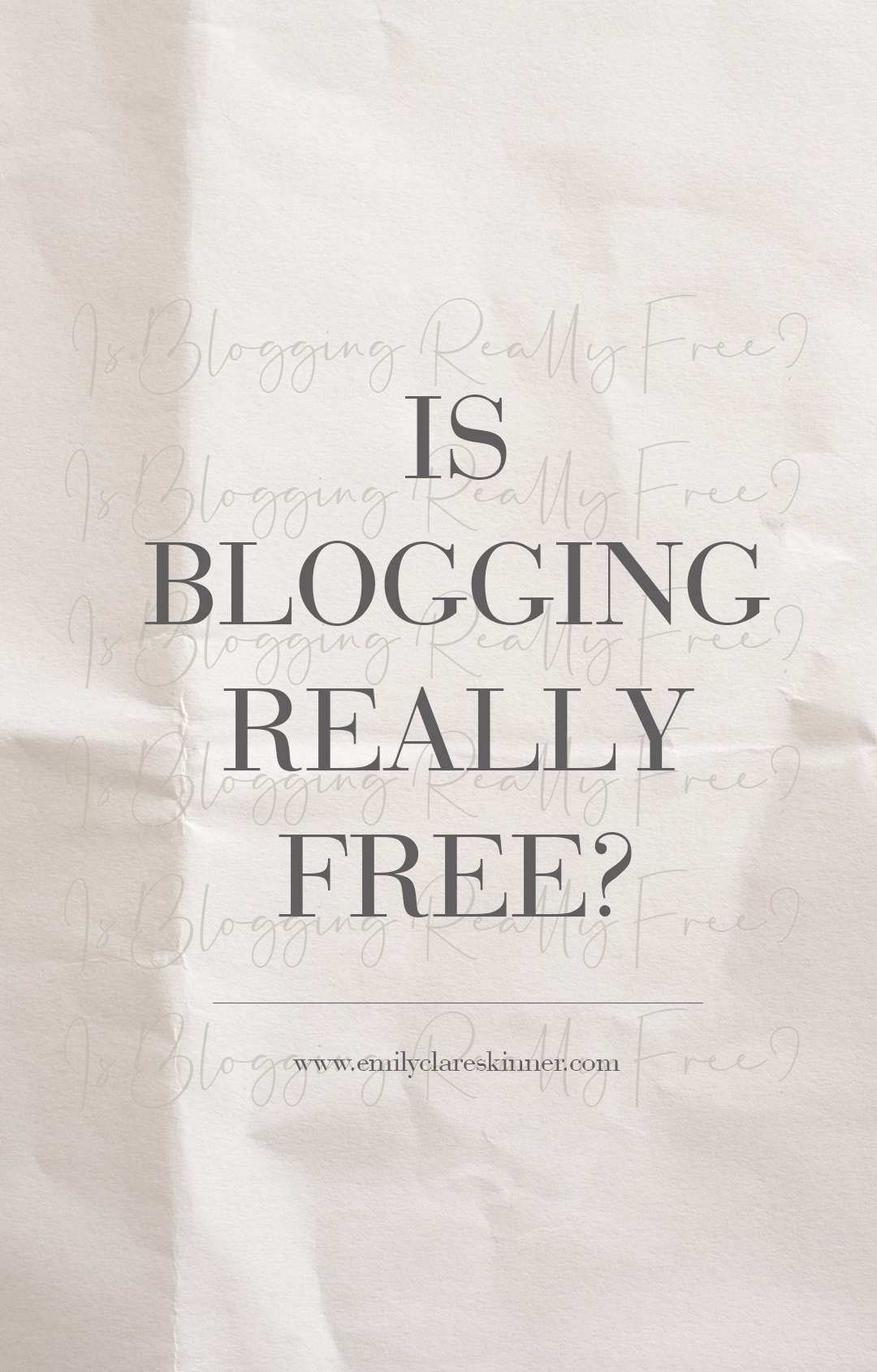 The hidden detail and costs of blogging that you won't realise when you start…
