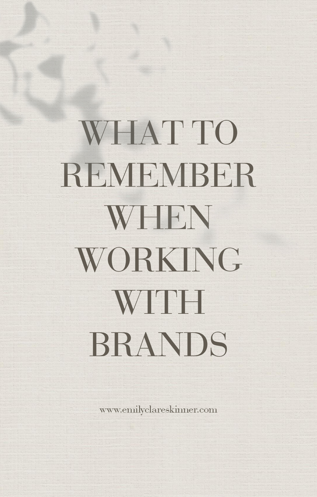 Working with brands is all fun and games when you are a blogger but you have to remember these important factors too…