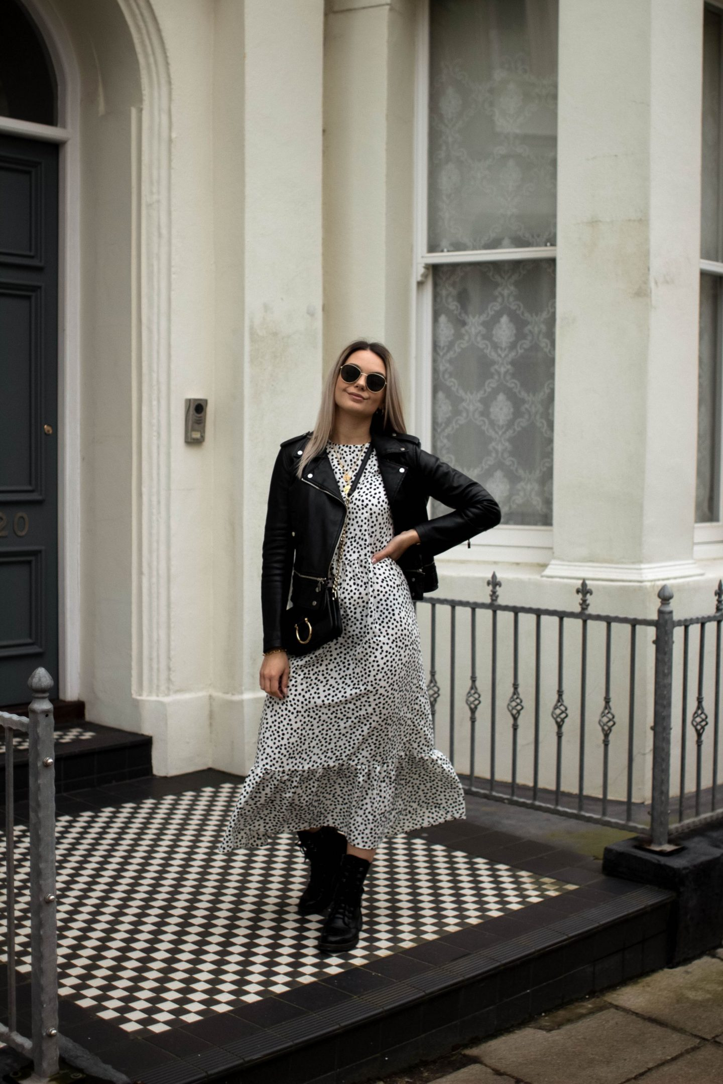 If your wardrobe doesn't have a black and white spotted dress in it, then is it really complete?
