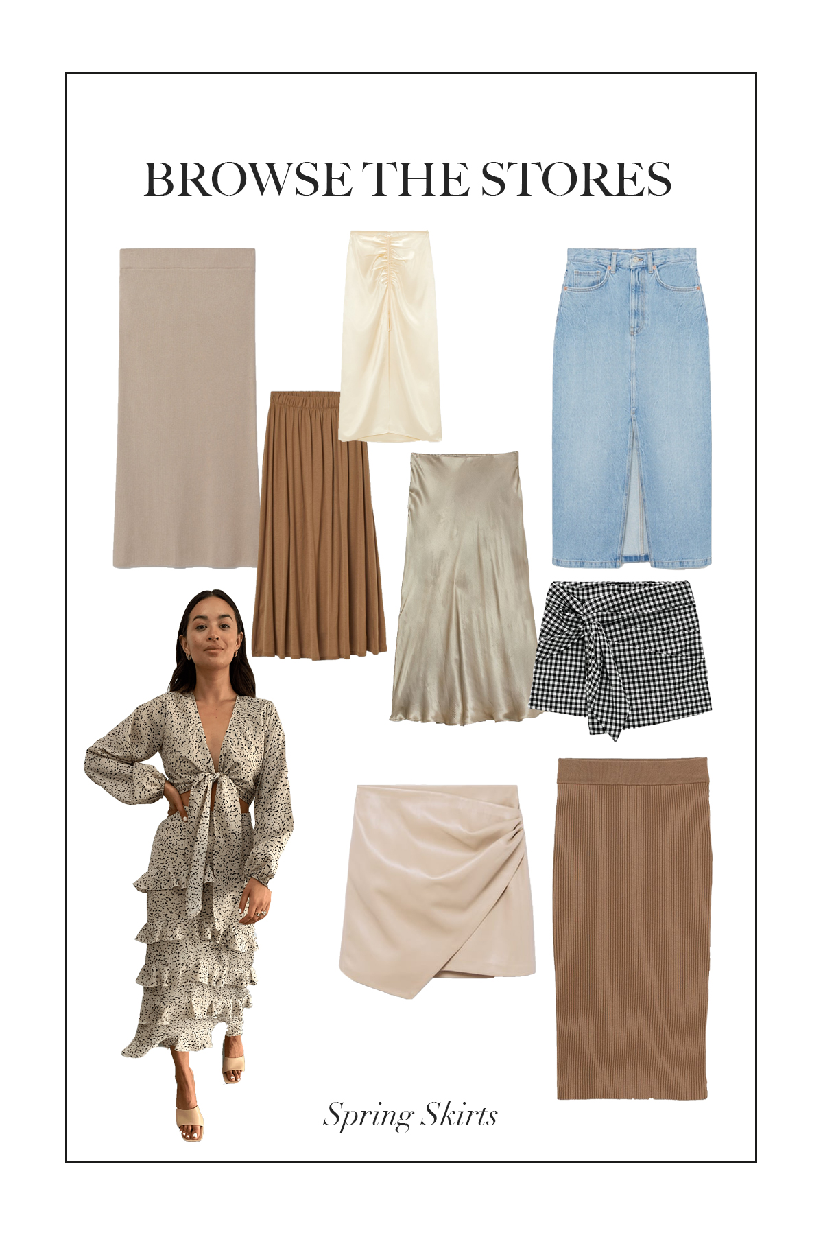 When the weather starts getting warmer we can say goodbye to the jeans and joggers and hello to spring skirts!