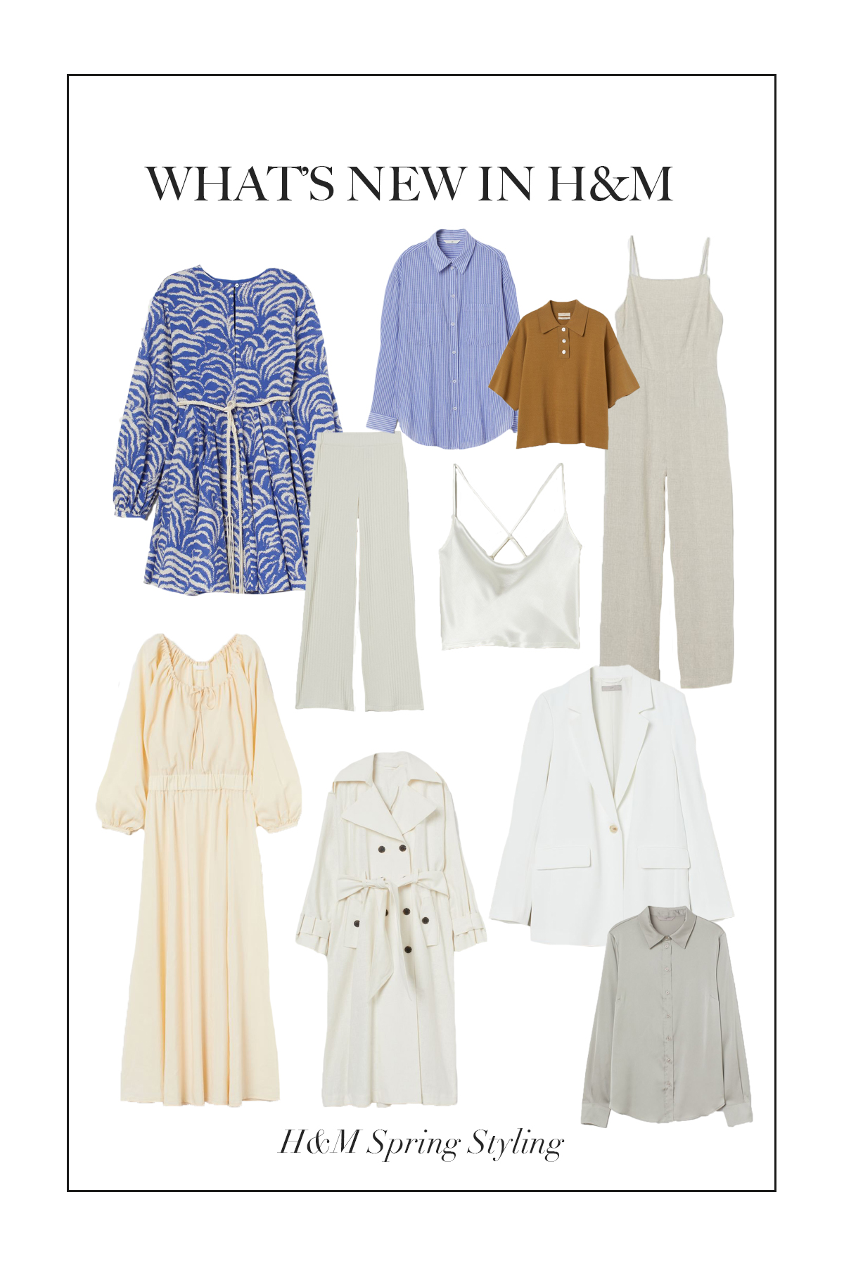 Let's have a good look at some of the gorgeous pieces that are New In H&M for spring !