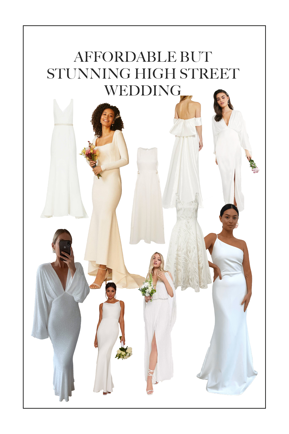 High Street wedding dresses that will look flawless on but won't cost an arm and a leg...