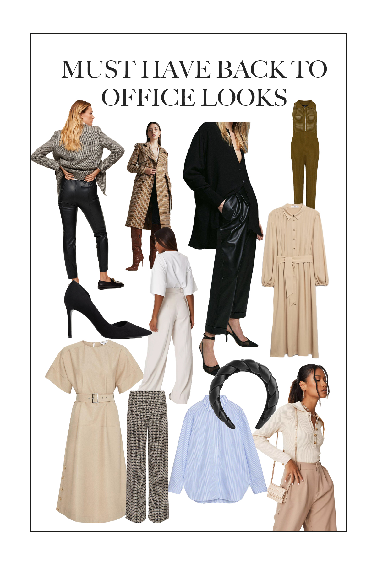 Now back to office working is becoming more of a reality here are some must have back to the office looks for a wardrobe refresh.
