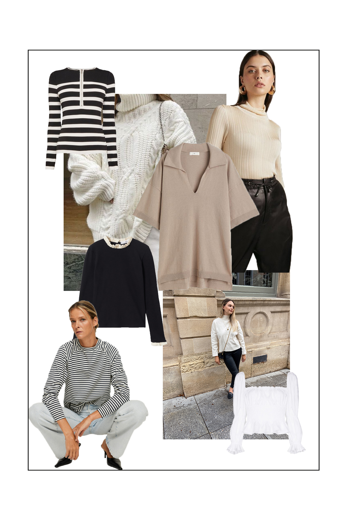 Here are are 15 minimal autumn tops for your wardrobe this season...